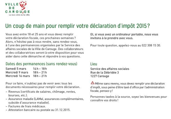 déclaration impôts 2016