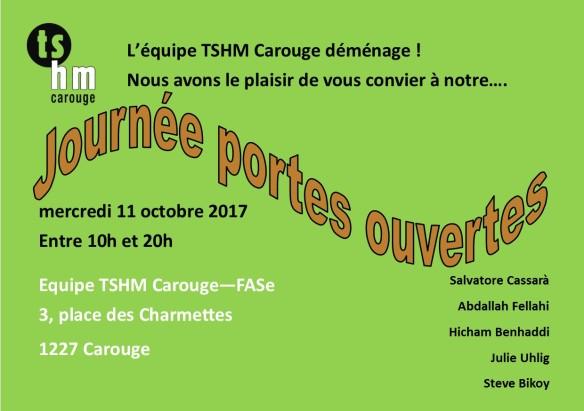 Invitation journée portes ouvertes TSHM Carouge